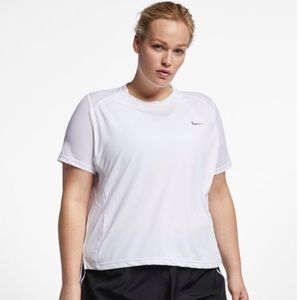 Nike Womans Miler Plus Size Dri Fit Top